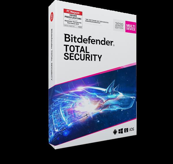 Bitdefender Total Security 2020, 3 Jahre, Vollversion, Multi Device