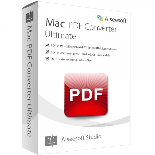 Aiseesoft PDF Converter Ultimate (Version 2017) - lebenslange Lizenz Windows