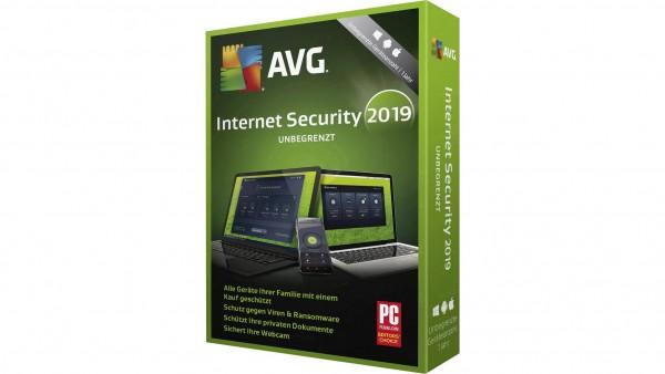 AVG Internet Security 2020 , unbegrenzte Geräteanzahl, 1 Jahr
