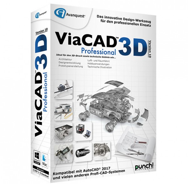 ViaCAD 3D Version 10 Professional [Win/MAC]