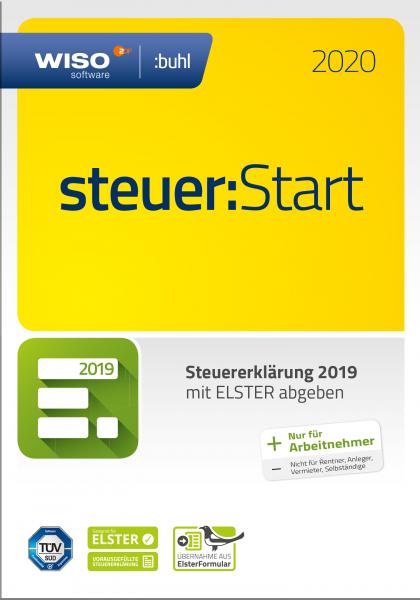 WISO Steuer:Start 2020 Steuerjahr 2019, Vollversion, Box