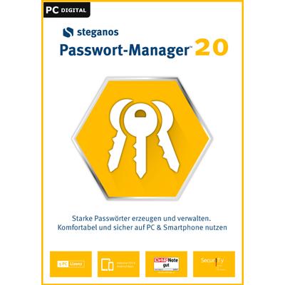 Steganos Passwort Manager 20, 5 Geräte 1 Jahr