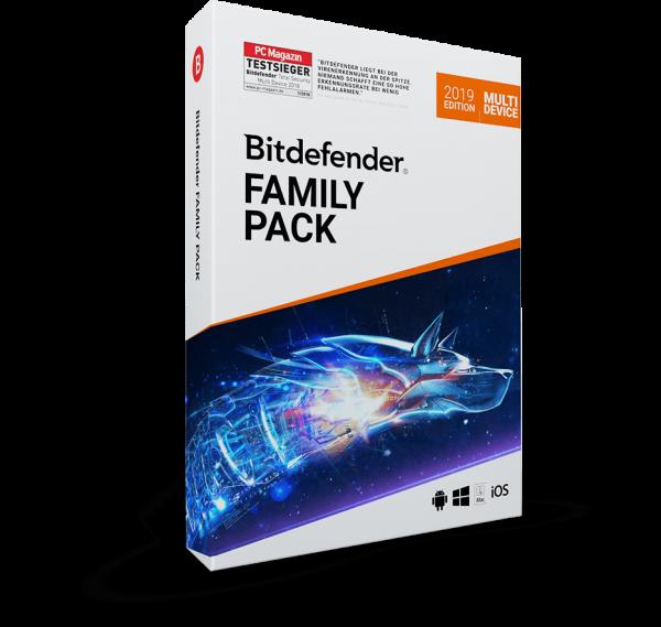 Bitdefender Family Pack 2020 - Unlimitierte Anzahl an Geräten