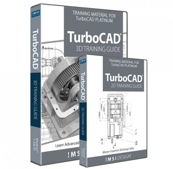 2D/3D Training Guide Bundle for TurboCAD, English