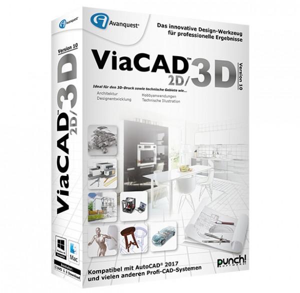 ViaCAD 2D/3D 10, WIN/MAC Windows