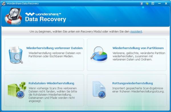 Wondershare Data Recovery Windows