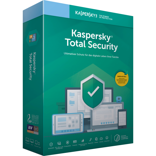 Kaspersky Total Security 2020, 5 Geräte, 2 Jahre Vollversion