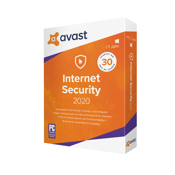 Avast Internet Security 2020 inkl. Upgrade auf Premium Security