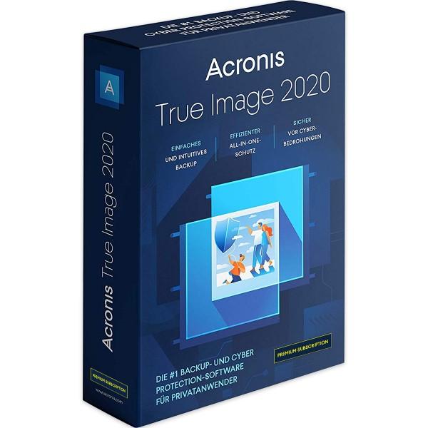 Acronis True Image 2020 Premium, 1 Jahresabonnement, 1TB Cloud