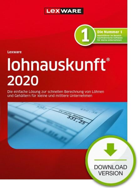 Lexware Lohnauskunft 2020, 365 Tage Laufzeit, Download