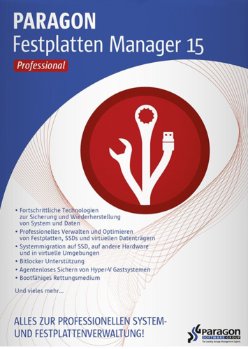 Paragon Festplatten Manager 15 Professional, Vollversion