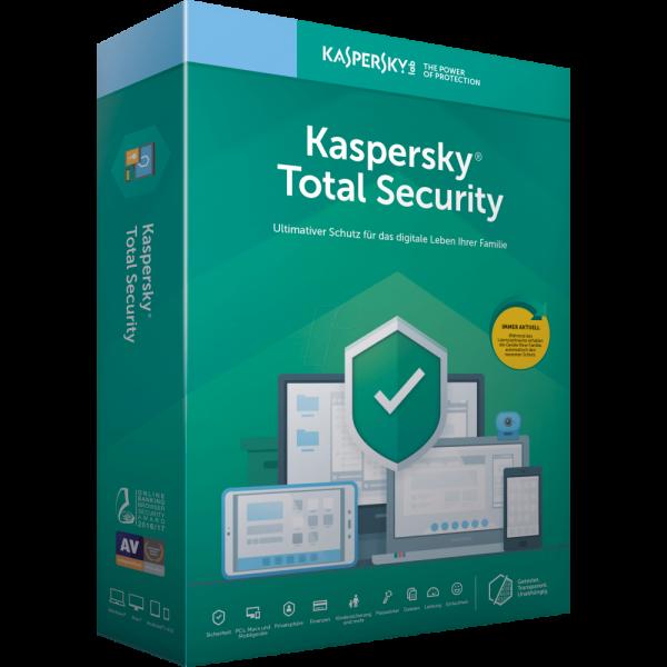 Kaspersky Total Security 2020, 1 Gerät, 2 Jahre Vollversion